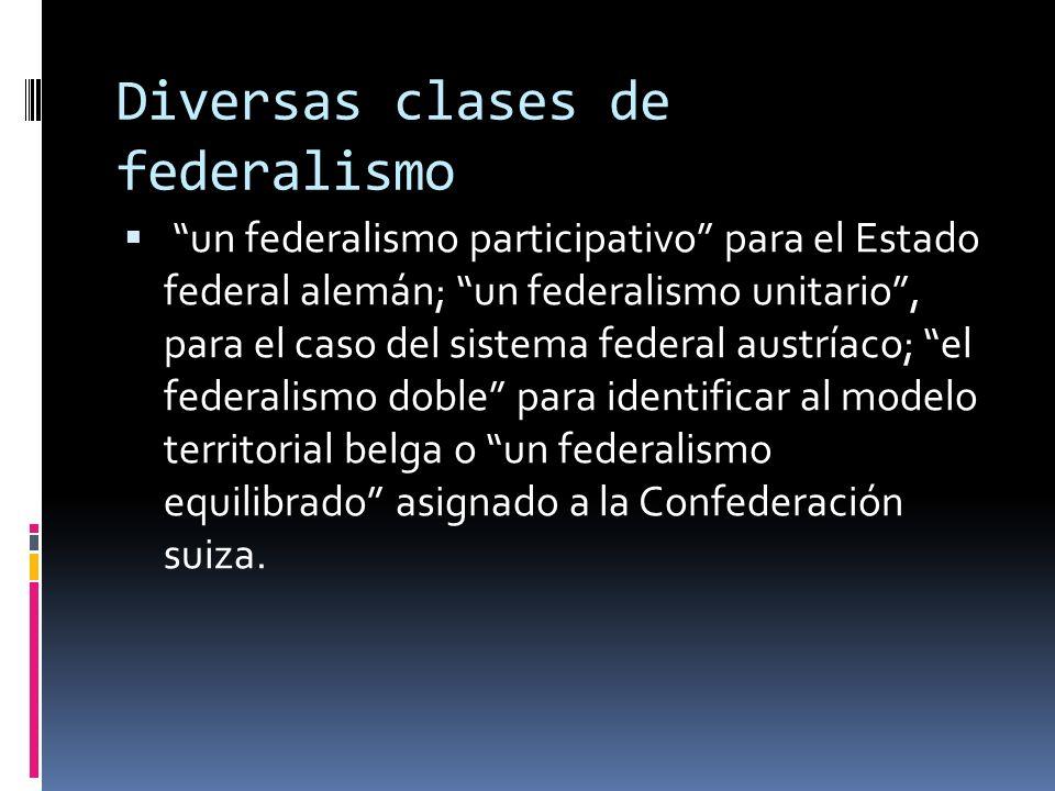 Federalismo Modelo territorial que preserva la diversidad de culturas, de formas de vida, de religiones, de lenguas, de instituciones sociales y de or