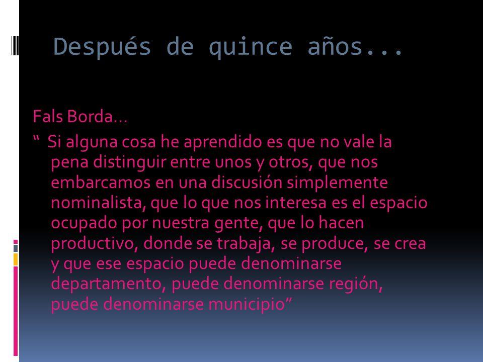 Y para Colombia: La lucha entre modelos o entre mayor autonomía no cesa ni va a cesar…..La autonomía es una propuesta permanente de los territorios