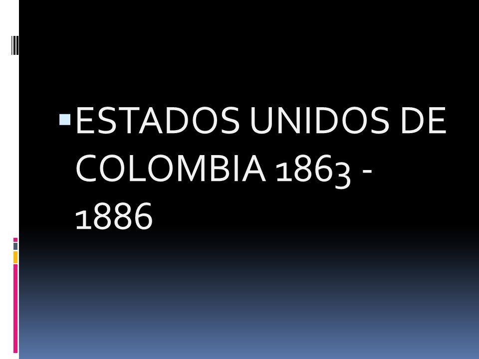 1821 1830 1832 1843 1853 – Centro federal 1858 – FEDERALISMO 1863 - FEDERALISMO