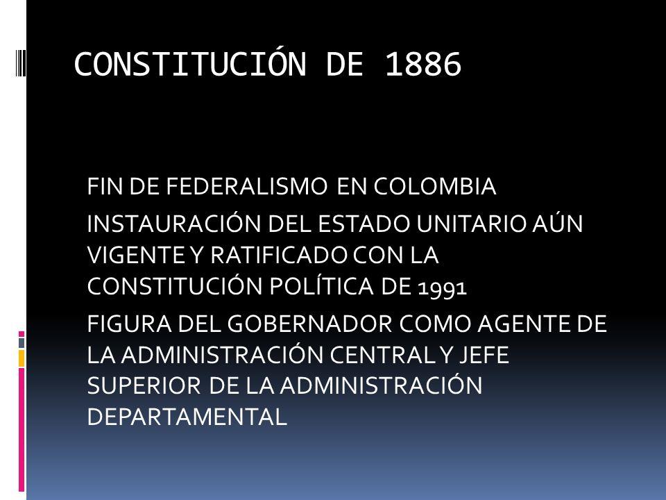 ESTADOS UNIDOS DE COLOMBIA 1863 - 1886