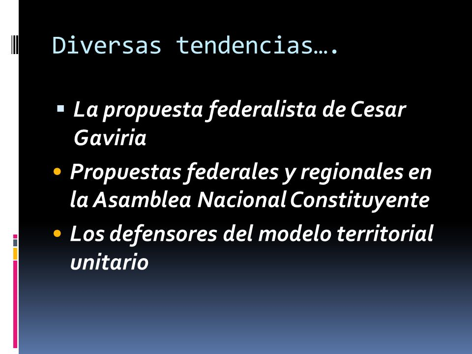 Diversas tendencias….