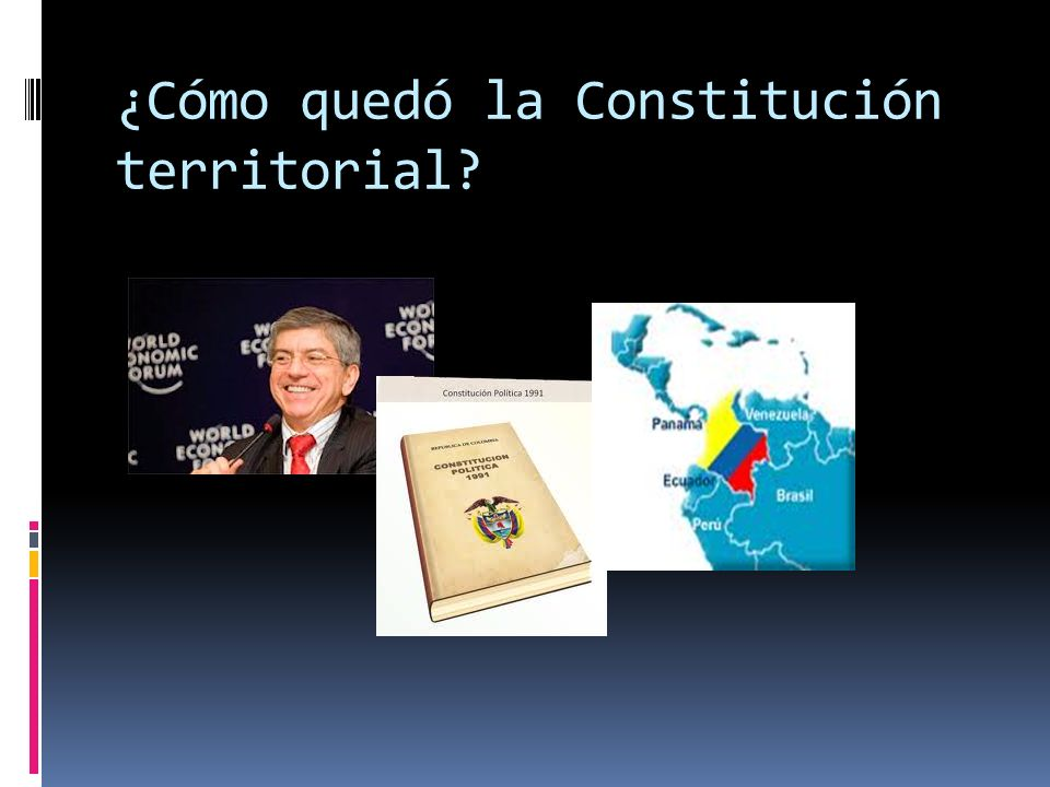 Un Estado unitario, eso sí más descentralizado, fue la tendencia mayoritaria antes y al interior de la Asamblea Nacional Constituyente.