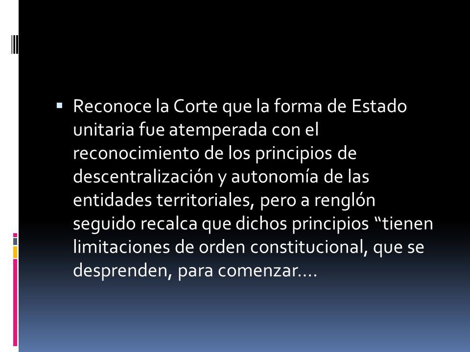 Principios y criterio jerárquico República unitaria Descentralización Autonomía territorial