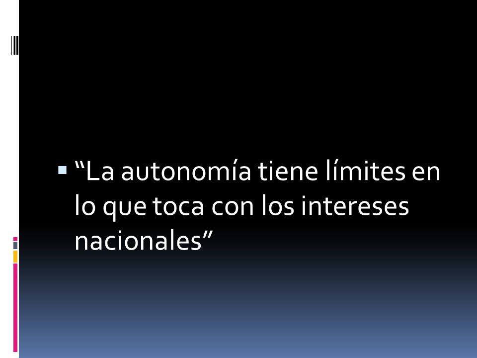La autonomía no equivale a autarquía ni a soberanía de las entidades territoriales