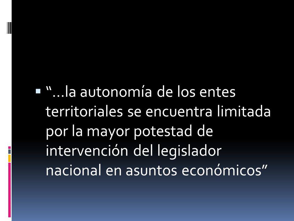La autonomía tiene límites en lo que toca con los intereses nacionales