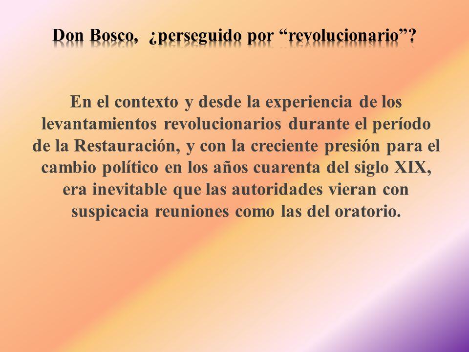 En el contexto y desde la experiencia de los levantamientos revolucionarios durante el período de la Restauración, y con la creciente presión para el
