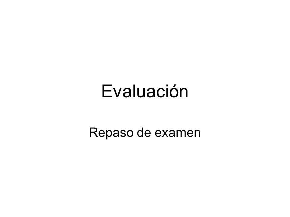 Evaluación Repaso de examen