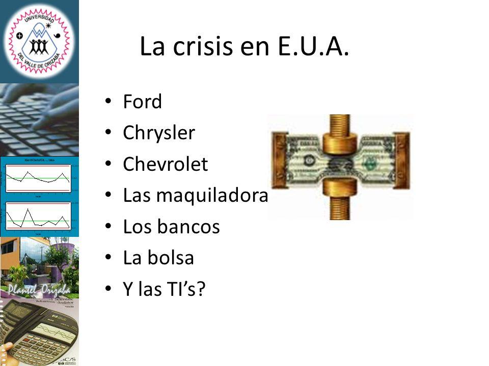 Hasta antes de la crisis…México: Exportaba alrededor de 152 millones de dólares anuales.