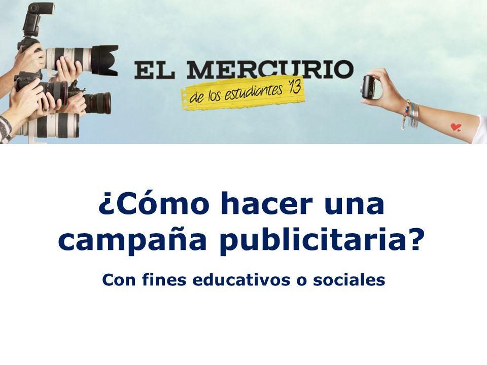 ¿Cómo hacer una campaña publicitaria? Con fines educativos o sociales