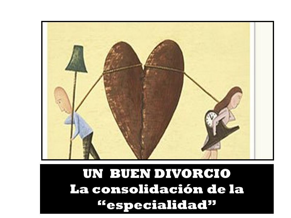 19 UN BUEN DIVORCIO La consolidación de la especialidad