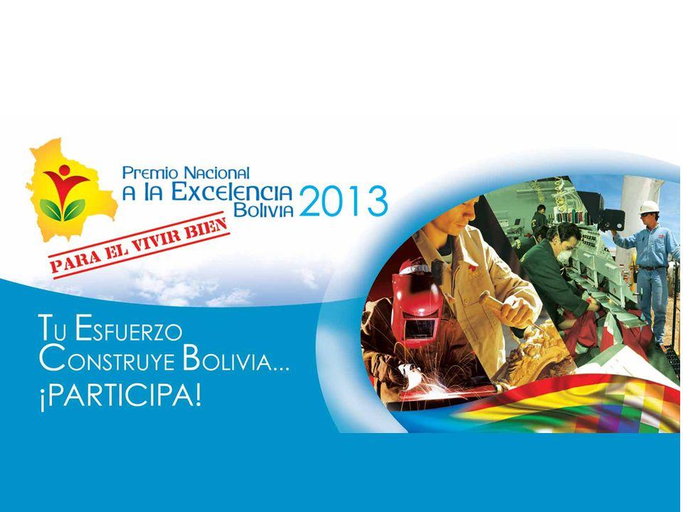 28 Instituciones Públicas 9 Gremios Productivos 15 Instituciones Académicas El Premio Nacional a la Excelencia para el Vivir Bien Es una realidad…