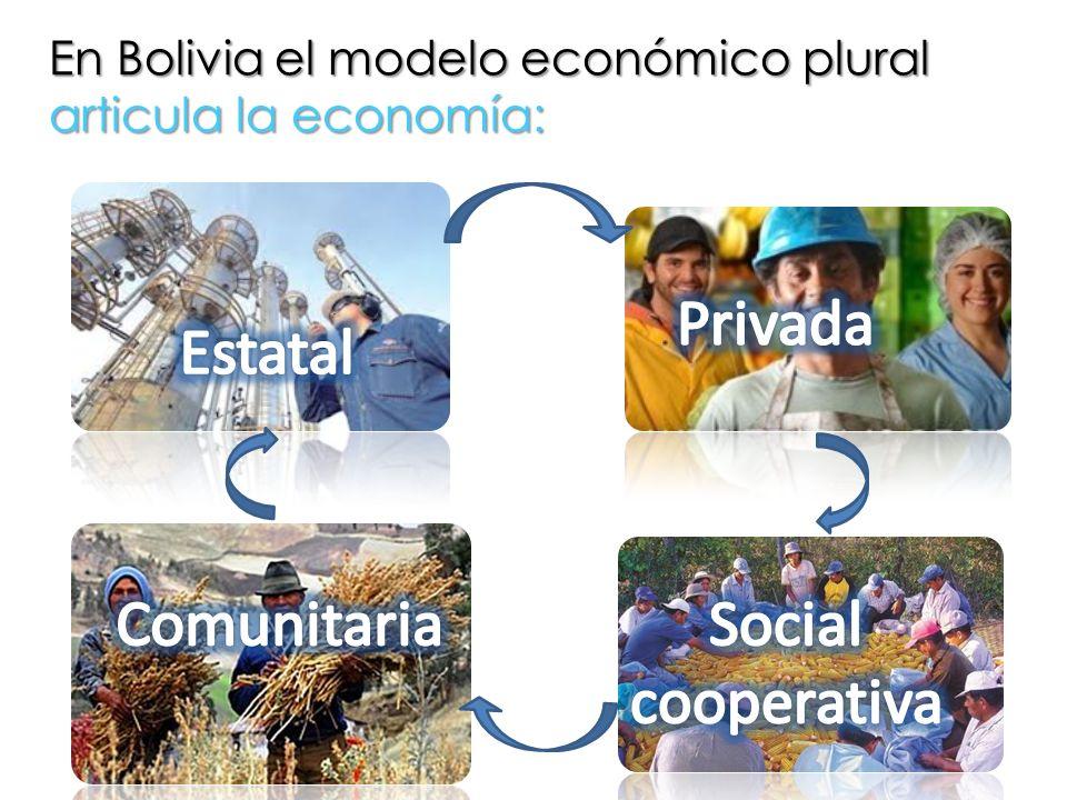 En Bolivia el modelo económico plural articula la economía:
