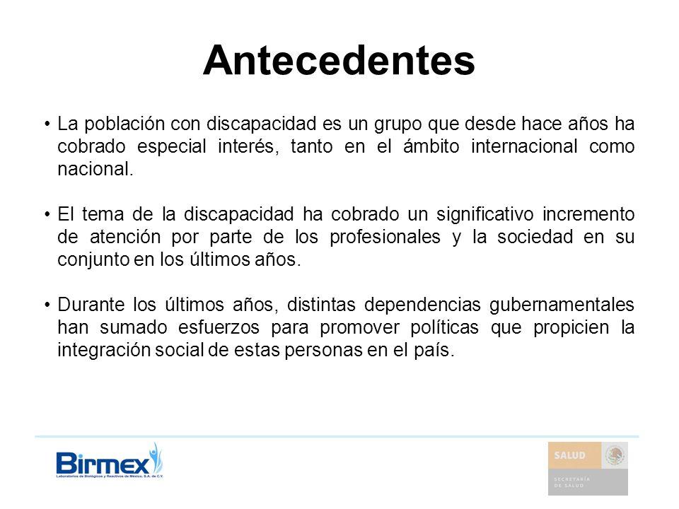 Situación en México Se han realizado esfuerzos actuales para la atención e integración social de las personas con discapacidad.