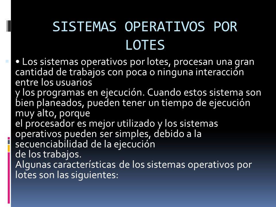 SISTEMAS OPERATIVOS Un Sistema operativo (SO) es un software que actúa de interfaz entre los dispositivos de hardware y los programas de usuario o el