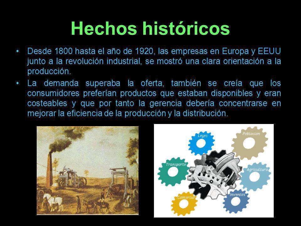 En la década de 1820 el ferrocarril permitió la colonización del territorio y provoco la urbanización rápida que creo nuevas necesidades lo que se tradujo en un crecimiento acelerado de las empresas hacia el consumo directo.