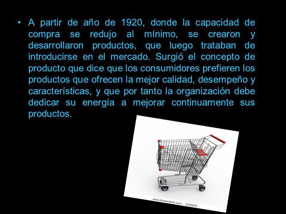 Theodore Levitt El concepto que dio origen al mercadeo o marketing (1950, Harvard), fue el de orientar los productos al grupo de compradores que los iba a consumir o usar.