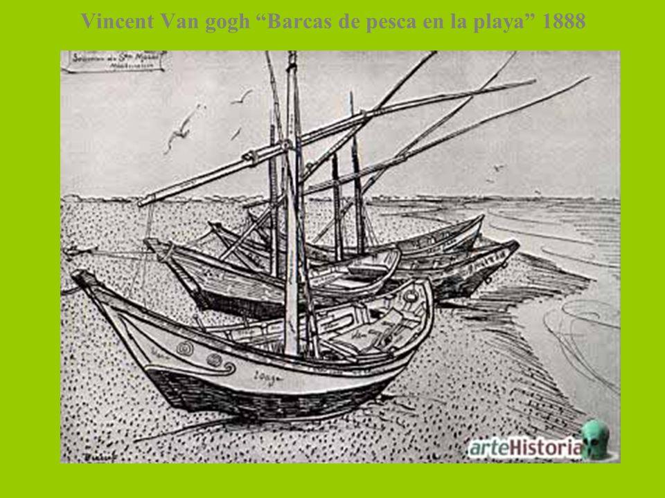 Vincent Van gogh Barcas de pesca en la playa 1888