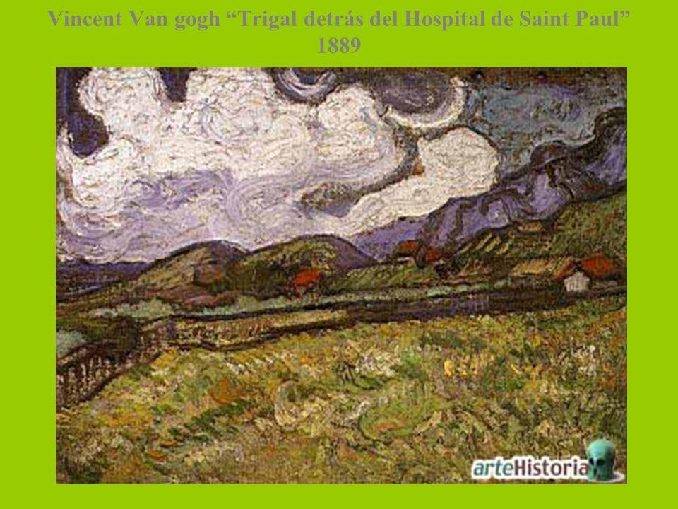 Vincent Van gogh Trigal detrás del Hospital de Saint Paul 1889
