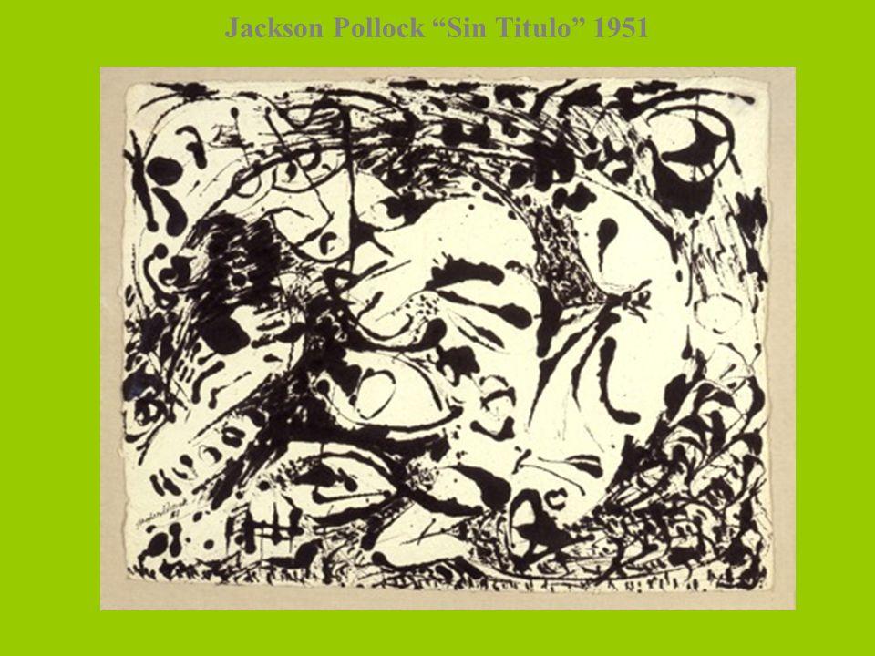 Jackson Pollock Sin Titulo 1951