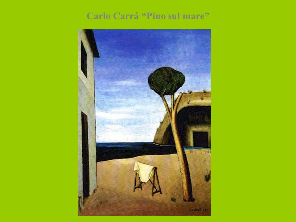 Carlo Carrá Pino sul mare