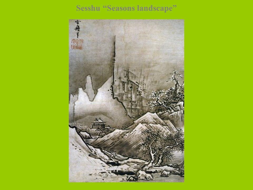 Sesshu Seasons landscape