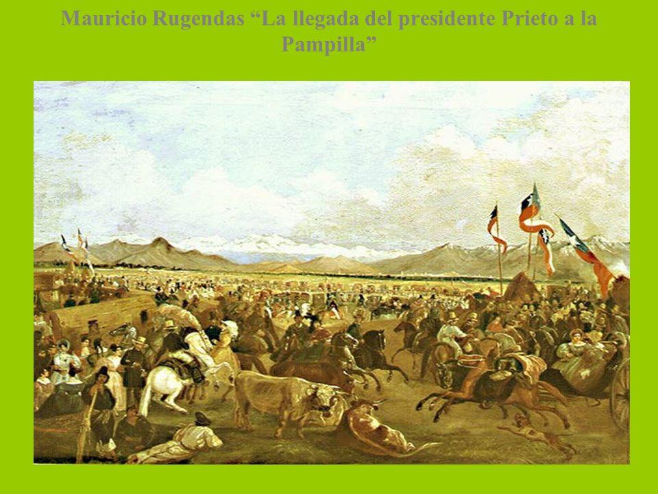 Mauricio Rugendas La llegada del presidente Prieto a la Pampilla