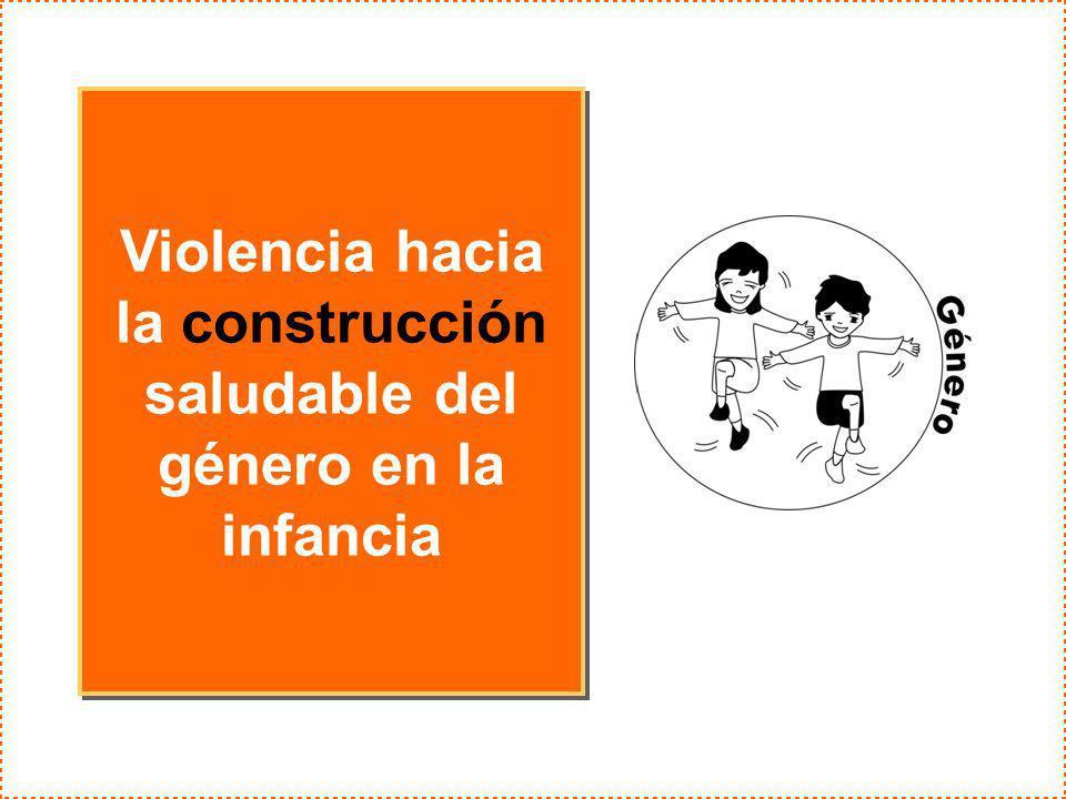 Violencia hacia la construcción saludable del género en la infancia