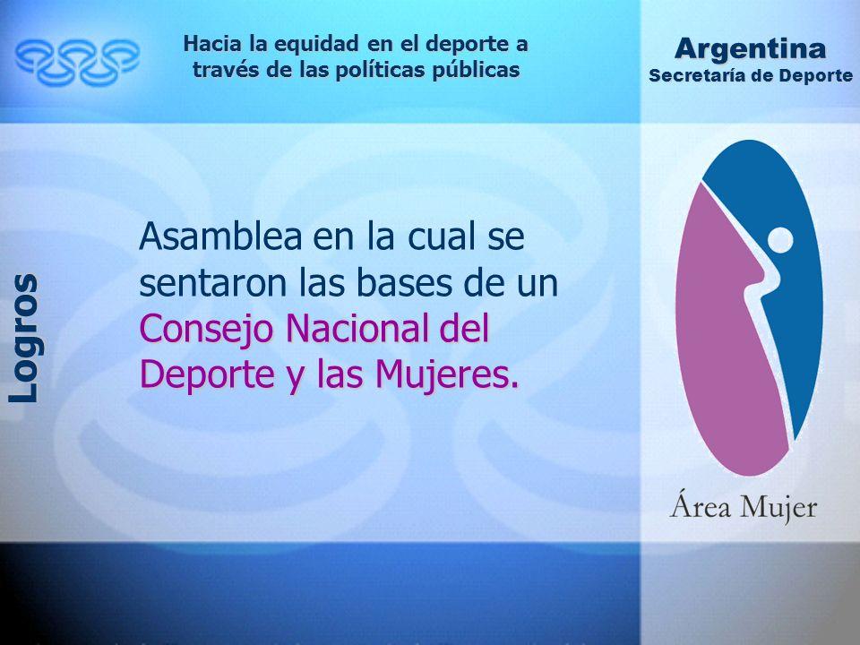 Consejo Nacional del Deporte y las Mujeres.
