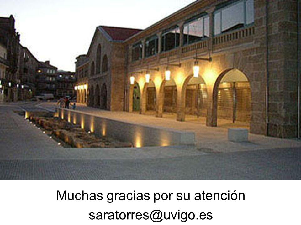 Muchas gracias por su atención saratorres@uvigo.es