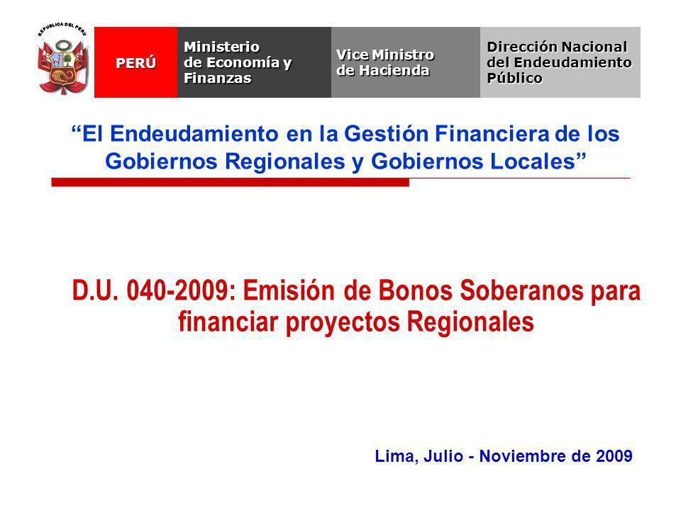 Lima, Julio - Noviembre de 2009 D.U.