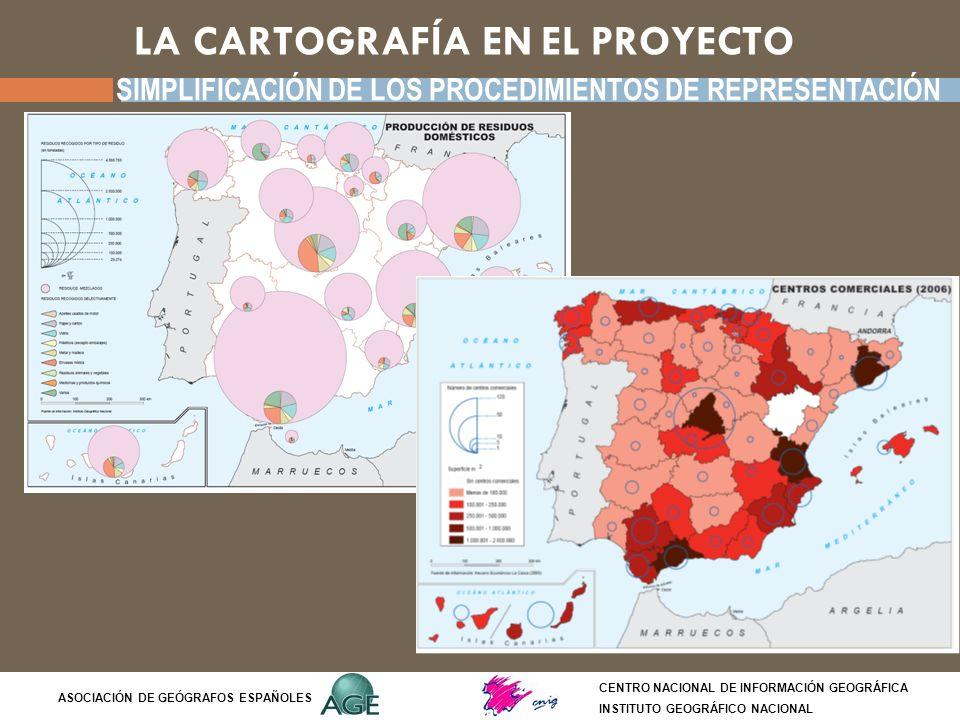 LA CARTOGRAFÍA EN EL PROYECTO CENTRO NACIONAL DE INFORMACIÓN GEOGRÁFICA INSTITUTO GEOGRÁFICO NACIONAL ASOCIACIÓN DE GEÓGRAFOS ESPAÑOLES SIMPLIFICACIÓN