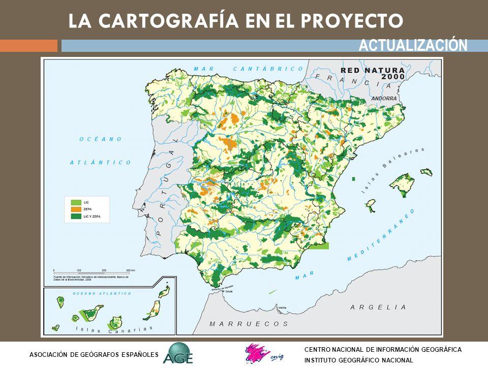 TIPOS DE MAPAS: mapas cualitativos CENTRO NACIONAL DE INFORMACIÓN GEOGRÁFICA INSTITUTO GEOGRÁFICO NACIONAL ASOCIACIÓN DE GEÓGRAFOS ESPAÑOLES Mapa de símbolos