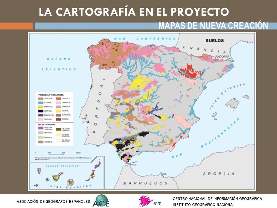 LA CARTOGRAFÍA EN EL PROYECTO CENTRO NACIONAL DE INFORMACIÓN GEOGRÁFICA INSTITUTO GEOGRÁFICO NACIONAL ASOCIACIÓN DE GEÓGRAFOS ESPAÑOLES MAPAS DE NUEVA