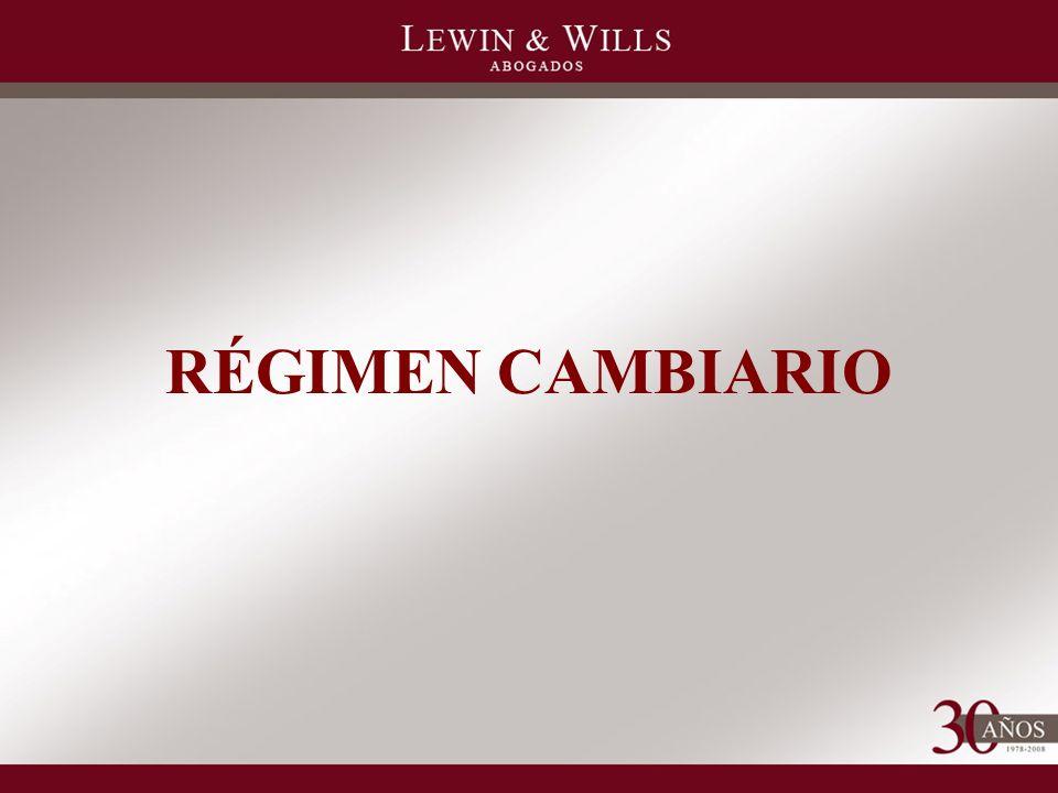 RÉGIMEN CAMBIARIO
