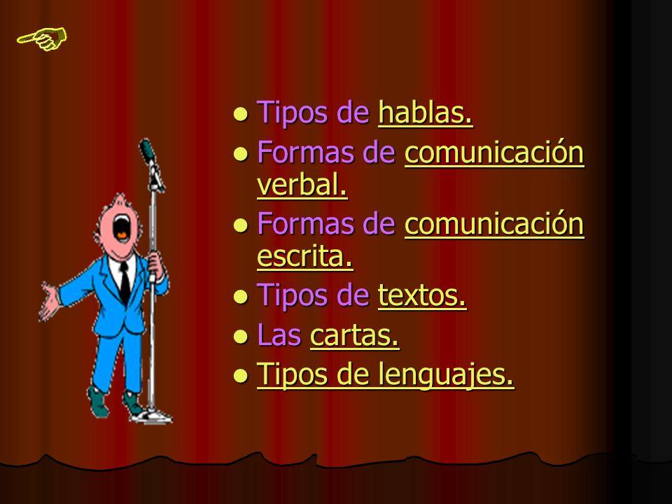 Tipos de hablas.Tipos de hablas.hablas. Formas de comunicación verbal.