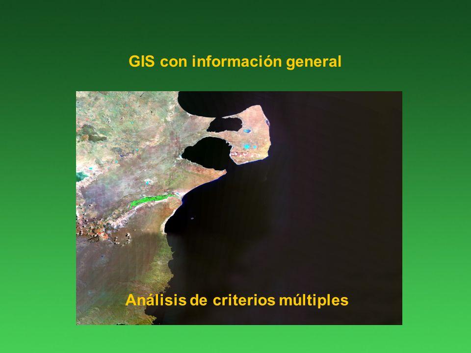 GIS con información general Análisis de criterios múltiples