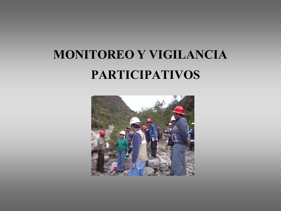 MONITOREO Y VIGILANCIA PARTICIPATIVOS