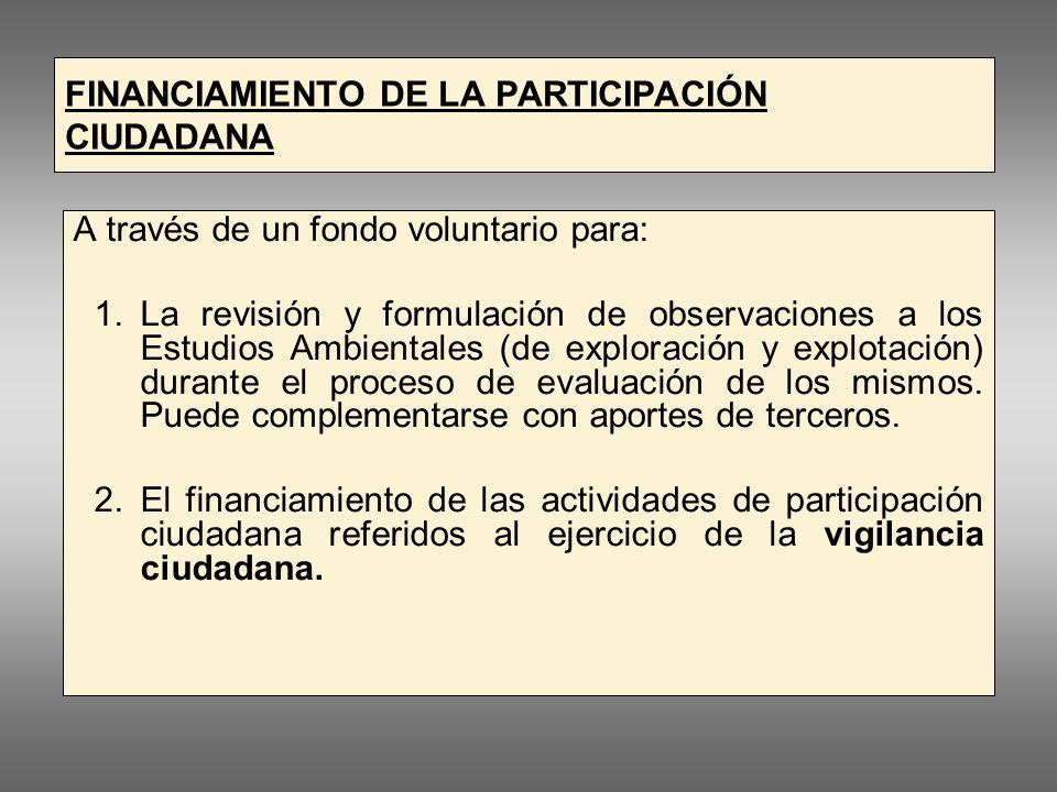 PARTICIPACIÓN CIUDADANA EN EL SUB SECTOR MINERO ACTIVIDADES PROCEDIMIENTO SITUACIÓN OTORGAMIENTO CONCESIÓN EXPLORACIÓN EXPLOTACIÓN / PRODUCCIÓN CIERRE EVALUACIÓN DIA / EIASd EVALUACIÓN y APROBACION EIA / EIAsd EVALUACIÓN Plan deCierre de Minas (Durante explotacion) TITULARIDAD ORDENAMIENTO TERRITORIAL Obligación de Informar: Del Estado (MEM – DREMs) Del Titular minero.