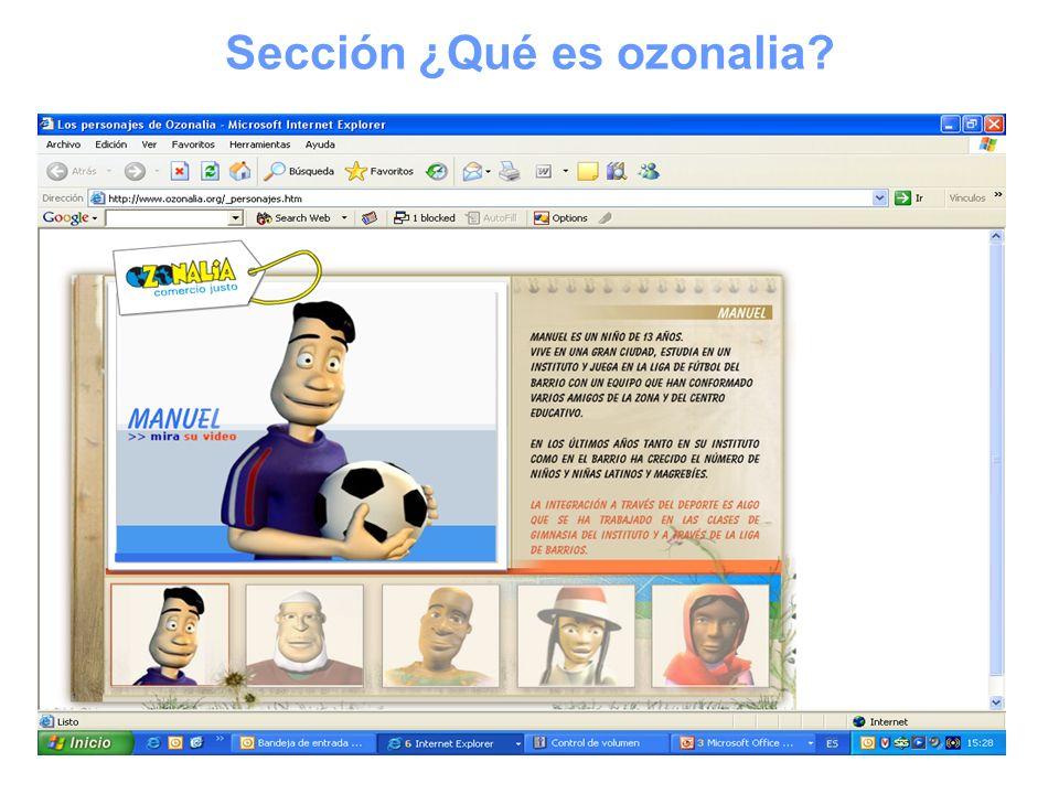 Sección ¿Qué es ozonalia?