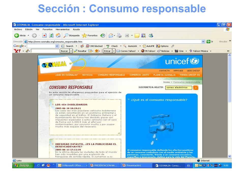 Sección : Consumo responsable