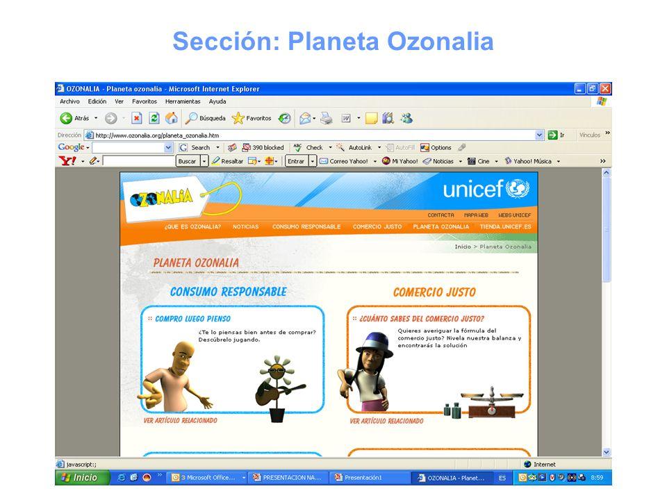 Sección: Planeta Ozonalia