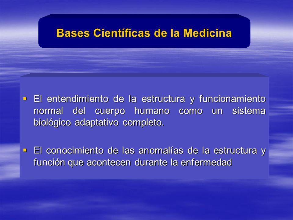 El entendimiento de la estructura y funcionamiento normal del cuerpo humano como un sistema biológico adaptativo completo.