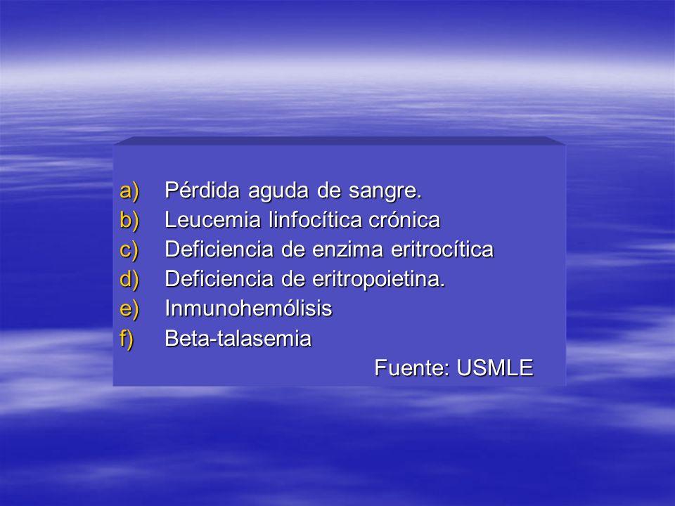 a)Pérdida aguda de sangre.