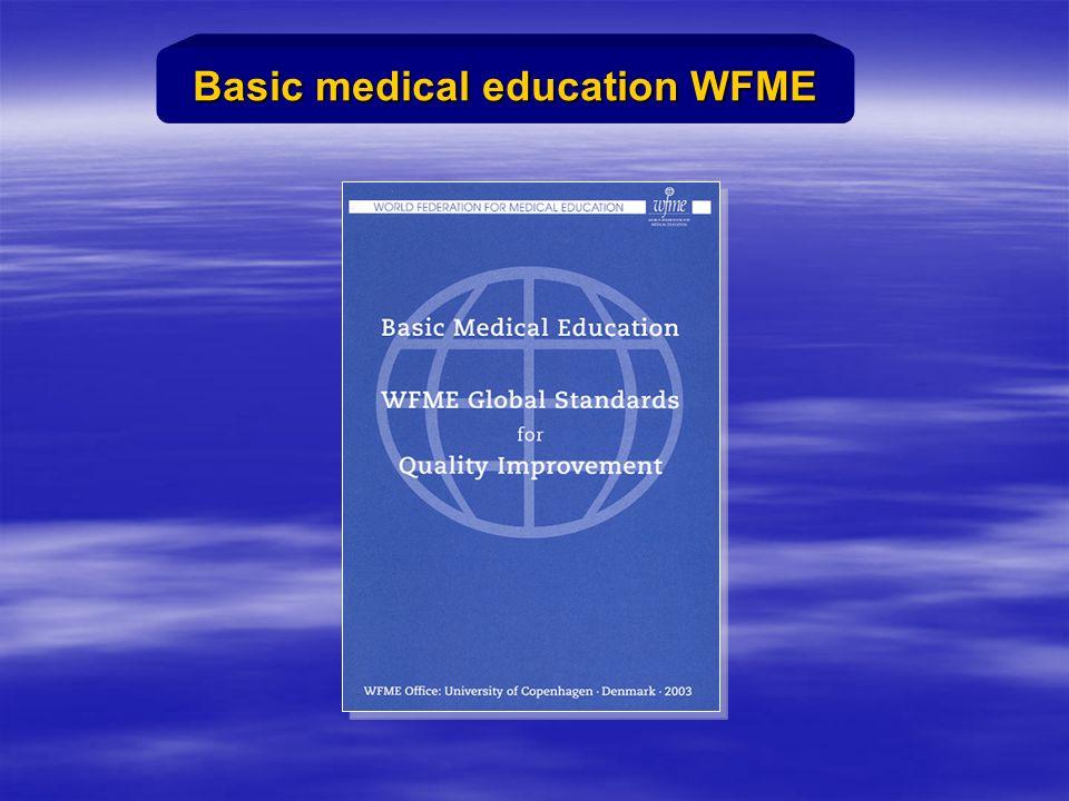 Basic medical education WFME