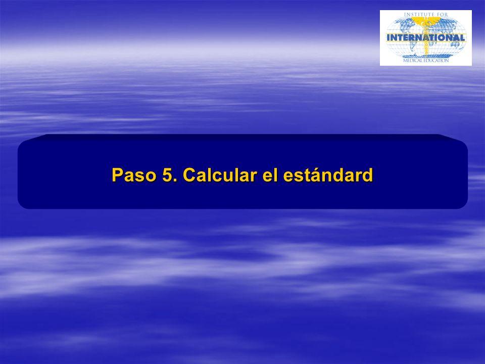 Paso 5. Calcular el estándard