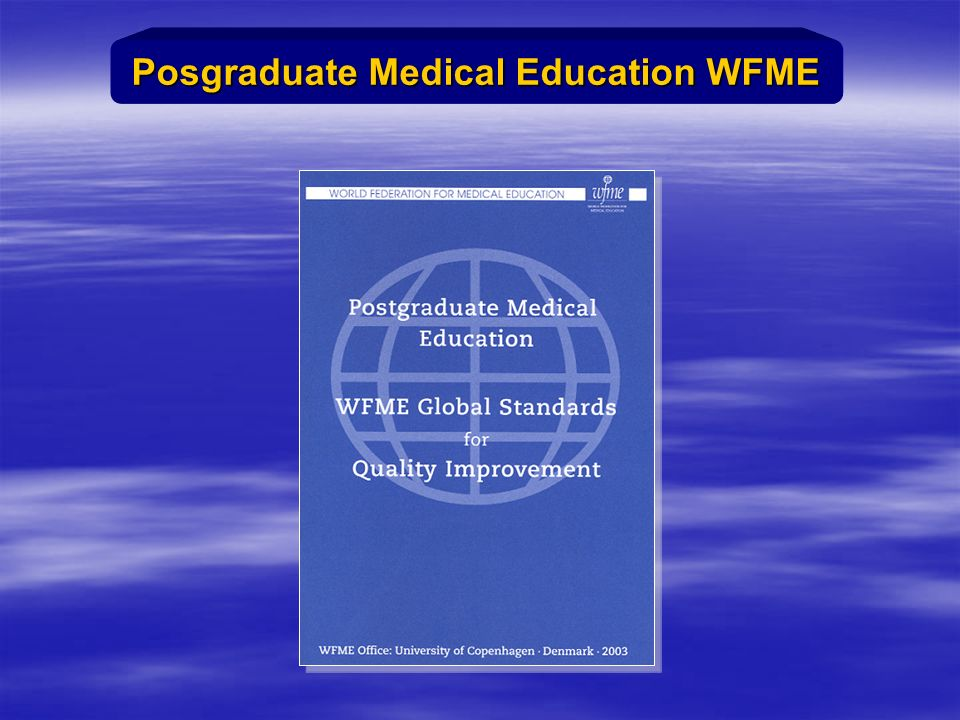 Posgraduate Medical Education WFME