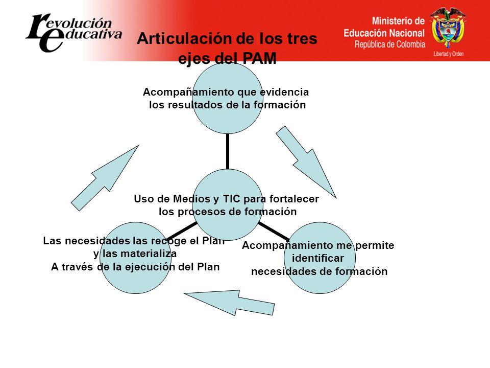 Articulación de los tres ejes del PAM