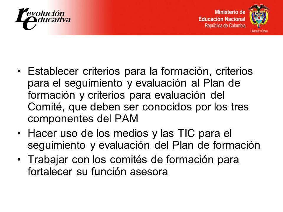 Formación de los directivos docentes con tres aspectos fundamentales: el liderazgo, la comunicación efectiva y el uso pedagógico de los medios y las TIC.