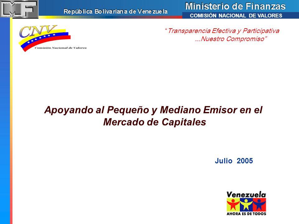 La Comisión Nacional de Valores.Misión y objetivos.