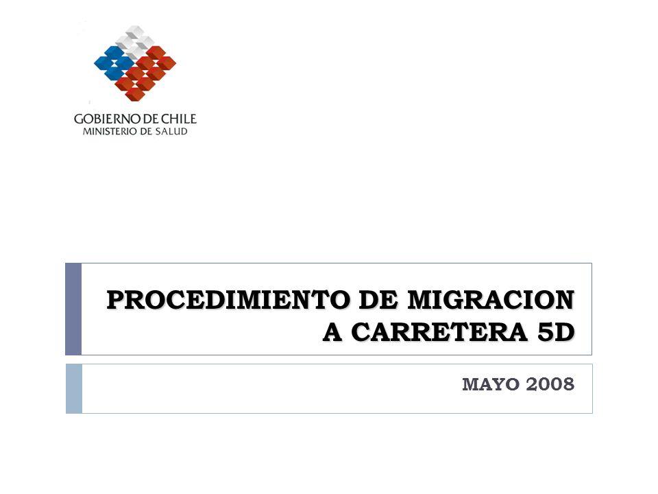 PROCEDIMIENTO DE MIGRACION A CARRETERA 5D MAYO 2008